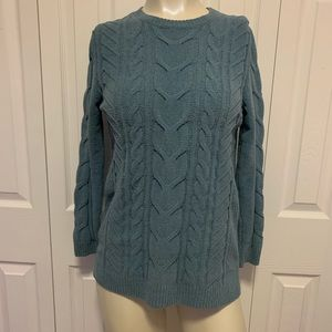 J Jill Chenille Knit Sweater Blue Size XS